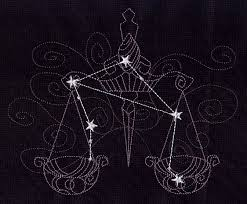 Libra embroidered scales